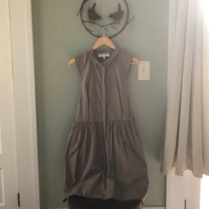 Anthropologie Smock Taupe Dress
